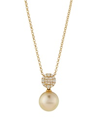 Belpearl South Sea Golden Pearl And Diamond Pendant Necklace Women's