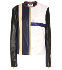 Acne Studios Maylor Leather Jacket Multicoloured