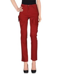 Krizia Jeans Casual Pants Brick Red