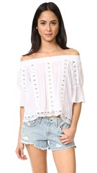 Ondademar Bateau Neck Top White