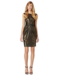 Erin Fetherston Elisa Metallic Pleated Dress Black