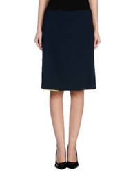 M.O.D. Mod Knee Length Skirts Dark Blue