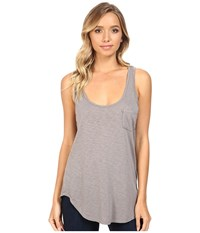 Lamade Boyfriend Tank W Pocket Peppercorn Women's Sleeveless Brown