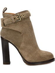 Etro Chunky Heel Ankle Boots Brown