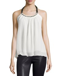 Ramy Brook Melissa Chain Neck Halter Tank Soft White
