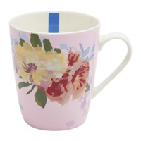 Joules Hollyhock Meadow China Mug Pink Floral