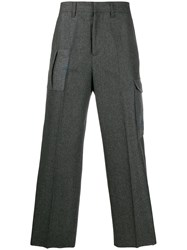 Golden Goose Pocket Details Straight Trousers Grey