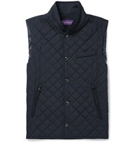 Ralph Lauren Purple Label Gerhardt Quilted Shell Gilet Navy