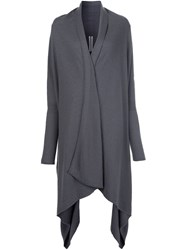 Rick Owens Long Cardi Coat Grey