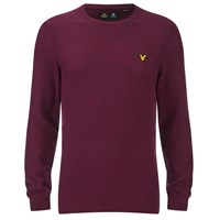 Lyle And Scott Vintage Men's Crew Neck Marl Seed Stitch Jumper Ruby Red