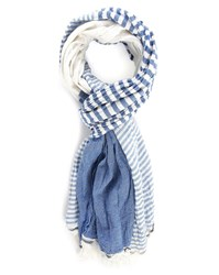 Scotch And Soda Blue Multi Stripes Scarf