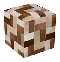 Surya Appalachian Cube Pouf 3 Brown