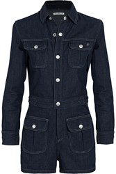 Ag Jeans Alexa Chung Loretta Denim Playsuit Blue