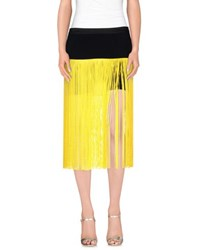 Space Style Concept Skirts Mini Skirts Women Yellow