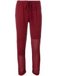Lost And Found Rooms Cropped Drawstring Trousers Red