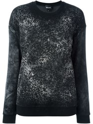 Just Cavalli Animal Print Sweatshirt Black