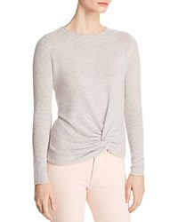 Bloomingdale's C By Twist Front Cashmere Sweater 100 Exclusive Cement