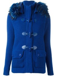 Bark Fur Hood Jacket Blue