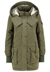 Noisy May Nmmissy Parka Ivy Green Khaki