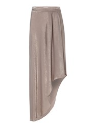 Label Lab Hammered Satin Asymmetric Maxi Skirt Champagne