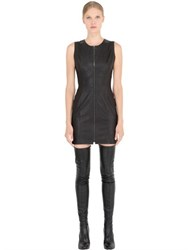 Jose' Sanchez Sleeveless Stretch Nappa Leather Dress