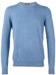 Barba Longsleeve Sweater Men Cotton 48 Blue