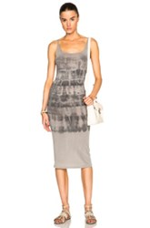 Raquel Allegra Layering Tank Dress In Gray Ombre And Tie Dye
