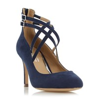 Head Over Heels Alisha Cross Strap Court Shoes Navy