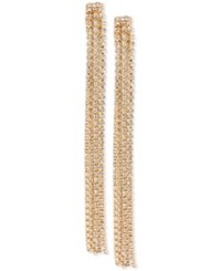 Inc International Concepts Rhinestone Linear Tassel Earrings Only At Macy's Gold