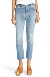 Re Done Women's Reconstructed High Rise Ankle Crop Jeans