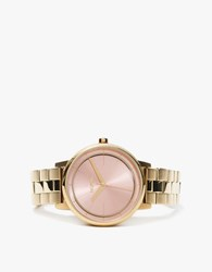 Nixon Kensington In Light Gold Pink Light Gold Pink