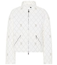 Moncler Gamme Rouge Cabriole Quilted Jacket White