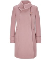 Cc Fold Collar Wool Duffle Coat Pink