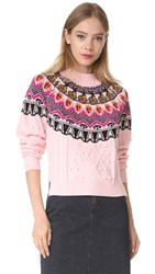 Temperley London Cable Sweater Cameo Pink Mix