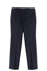 Paul And Joe Flannel Trousers Navy