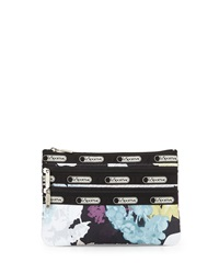 Le Sport Sac Lesportsac Floral Print Three Zip Cosmetic Pouch Euphoria