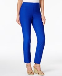 Charter Club Cambridge Tummy Control Slim Leg Pants Only At Macy's Modern Blue