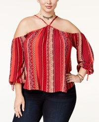 American Rag Trendy Plus Size Off The Shoulder Top Only At Macy's Chili Pepper
