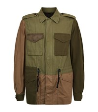 3.1 Phillip Lim Patchwork Field Jacket Male Khaki