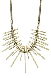 Romeo And Juliet Couture Metal Statement Bib Necklace Metallic