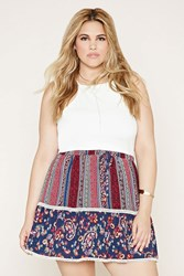 Forever 21 Plus Size Floral Crochet Skirt