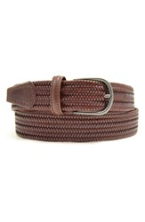Andersons Anderson's Stretch Leather Belt Mid Brown