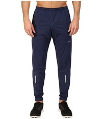 Nike Shield Running Pant Midnight Navy Reflective Silver Men's Workout Blue