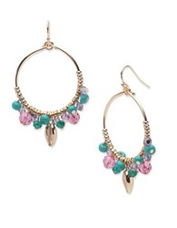 Lonna And Lilly Beaded Shell Drop Earrings Multicolor