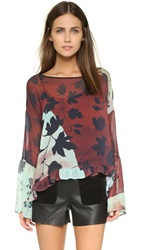 Clover Canyon Rustic Vines Top Burgundy