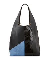 Hayward Grand Shopper Smooth Tote Bag Blue Black Blue Black