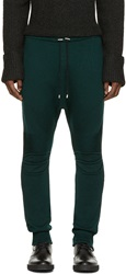 Balmain Green Knit Biker Lounge Pants