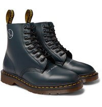 Undercover Dr. Martens 1460 Printed Leather Boots Navy