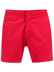 Amir Slama Mid Rise Swim Shorts Red