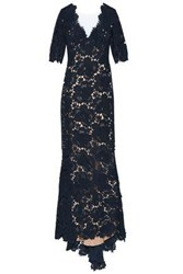Catherine Deane Corded Lace Gown Navy